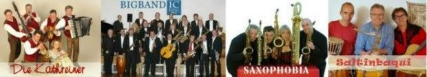 Termine Kathreiner Musikanten, Saltinbaqui, Saxophobia, IC KING Bigband