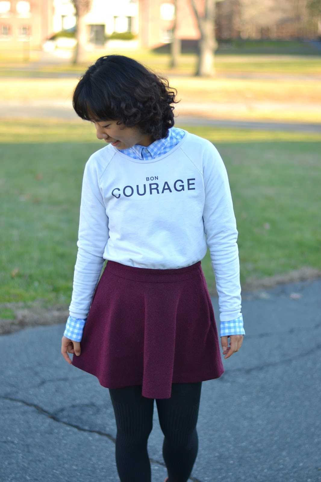 how to style printed sweatshirts french quotes