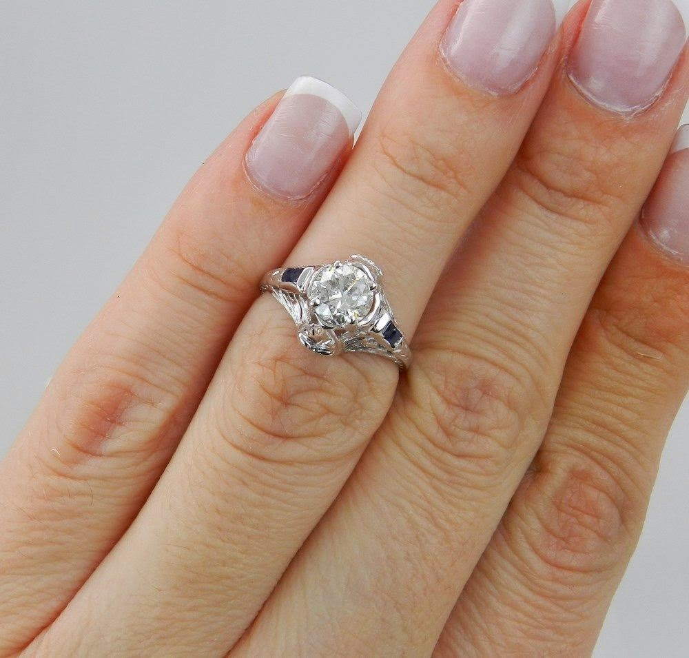 Fascinating White Sapphire Engagement Rings
