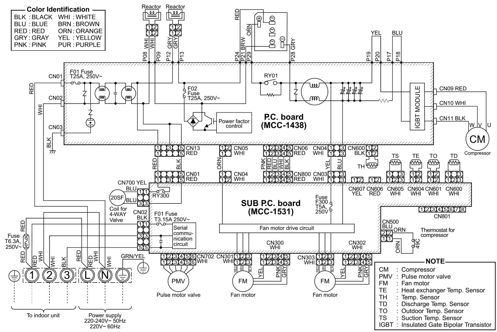 toshiba airconditioners split type wiring diagram digital inverter