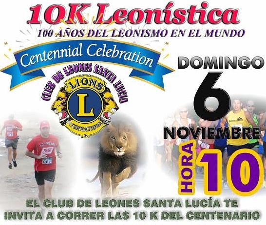 10k Leonística Santa Lucía - 6-11-16  Fanpage en Facebook