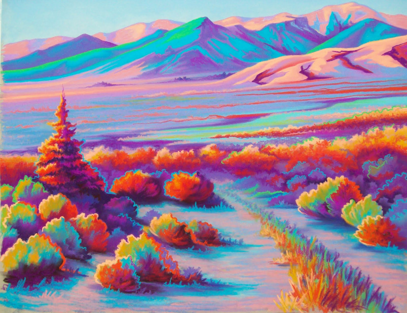 Jeanie Schlump Artworks: Vibrant Panorama