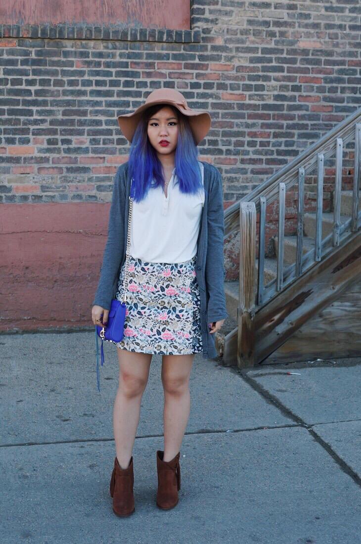 Topshop-Floral-Skirt
