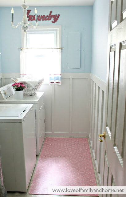 Board & Batten Laundry Room Makeover