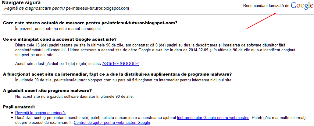 restrictionat de google