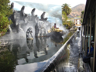 The miniature of King Kong's Skull Island at the Parting of the Red Sea attraction.