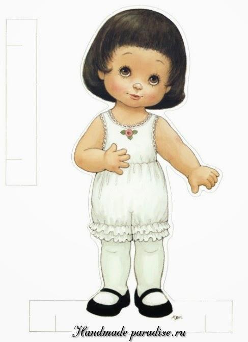 Бумажные куклы с одеждой для вырезания3