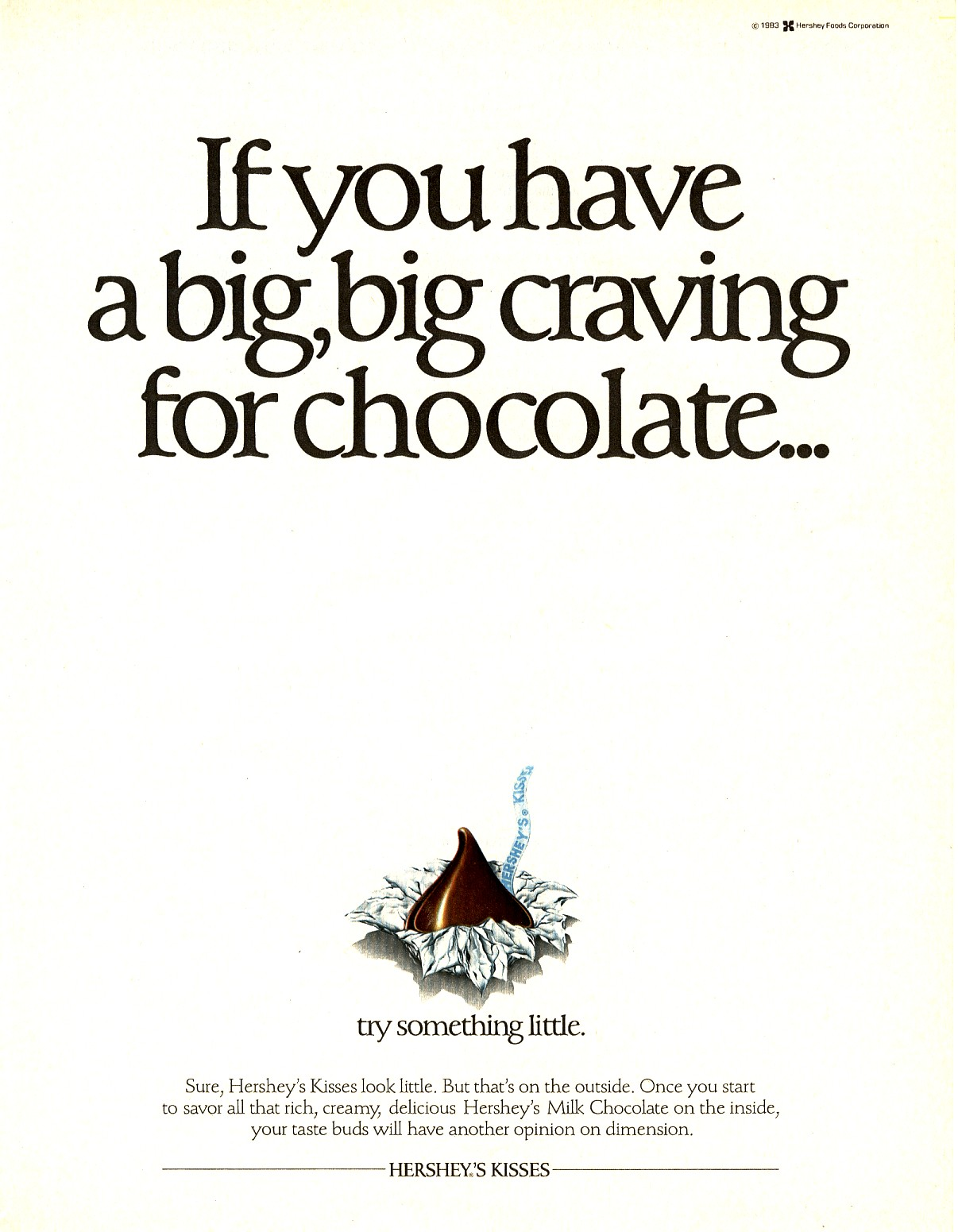 1983 Hershey's Chocolate Ad print Photo Kisses | Old ...