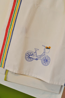 Blue Bicycle Kitchen Towel
