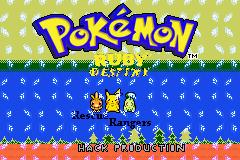 Pokémon Ruby Destiny Rescue Rangers