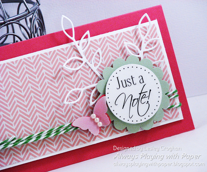 SRM Stickers Blog - 1 Sticker - 4 Cards by Lesley - #cards #set #Thinking of You #stickers #fancy #twine