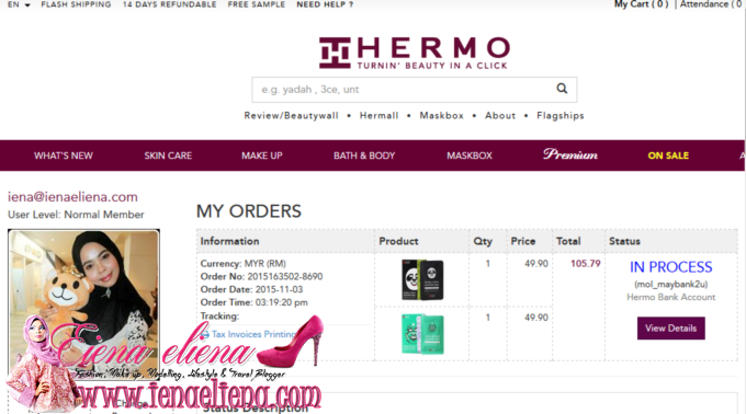 shopping hermo di  www.shopback.my