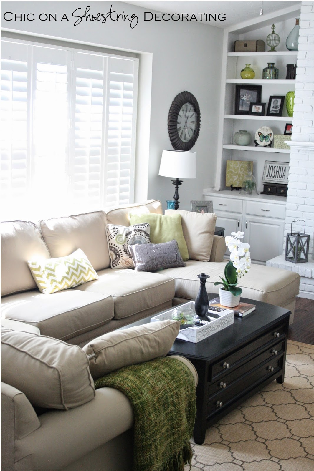 chic on a shoestring decorating client living room