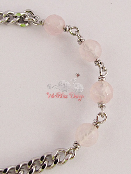 Minlet with Rose Quartz by WireBliss