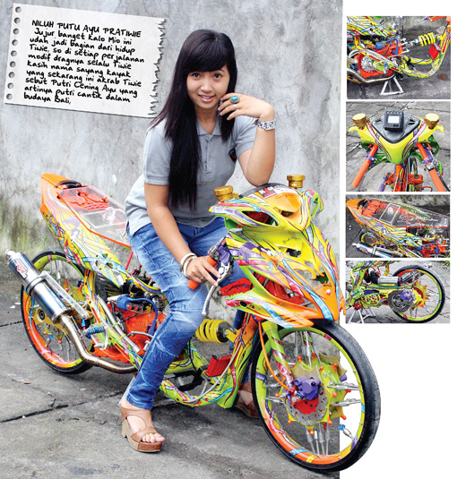 Modifikasi Mio '10 : Lady Dragster