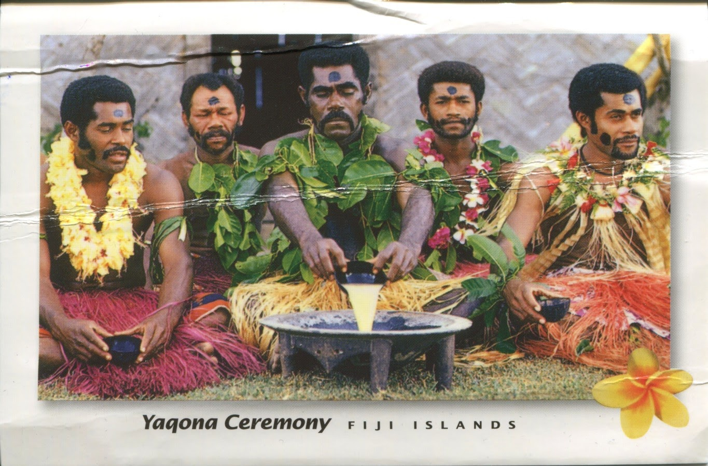 postcard, fiji, kava, tanoa