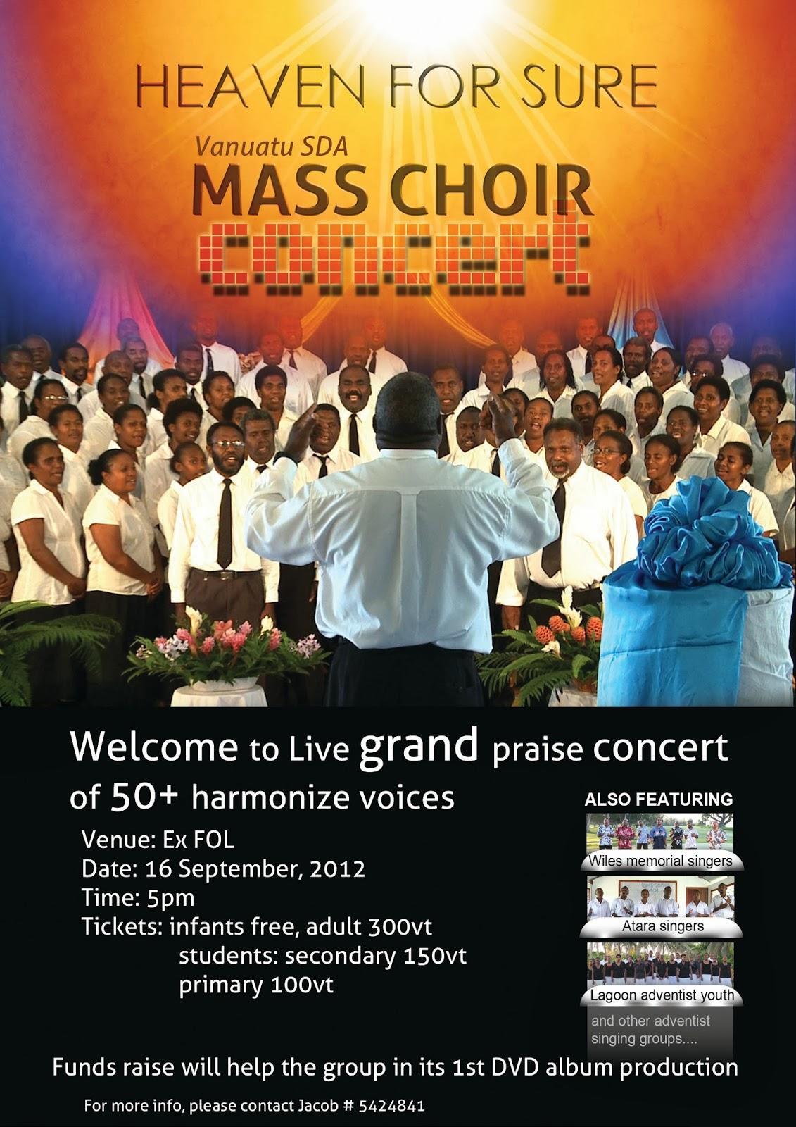 Design poster for concert - Poster Vanuatu Advent Herald Concert