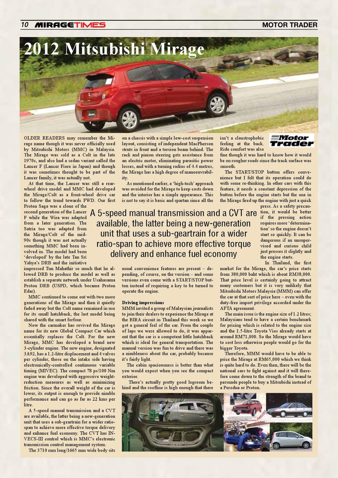 Mitsubishi Mirage Transmission Control Read What The Malaysian Media Have To Say About