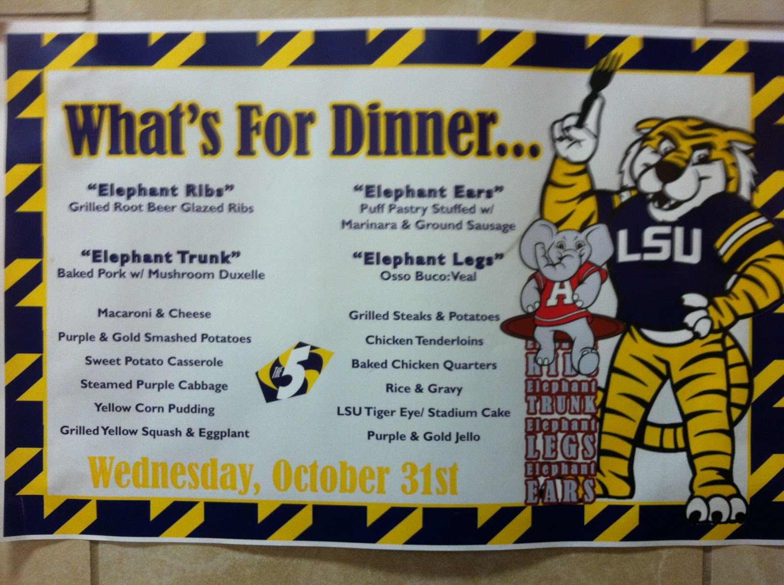Check Out The Training Table Festivities Below: