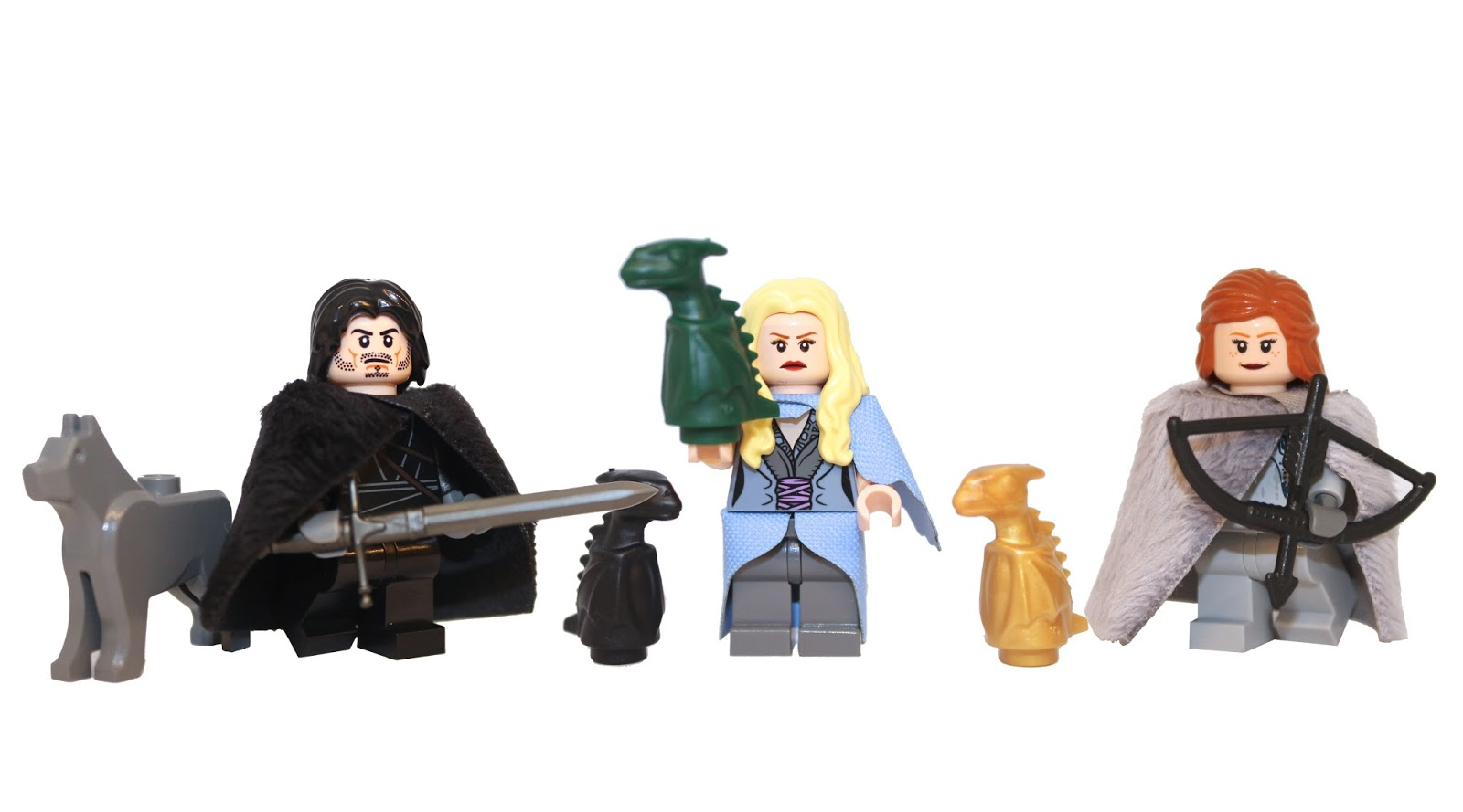 Lego Game of Thrones, game of thrones lego, demonhunter bricks, jon snow lego, ygritte lego, daenerys lego, custom lego, custom mini figures