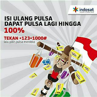Pulsa Merdeka - Bonus Pulsa Hingga 100% dari Indosat