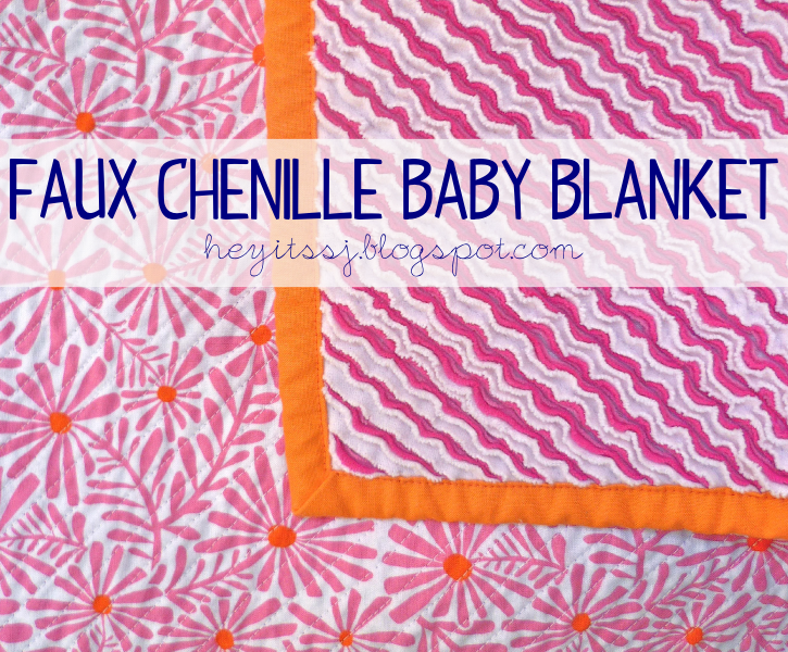 DIY Faux Chenille Baby Blanket
