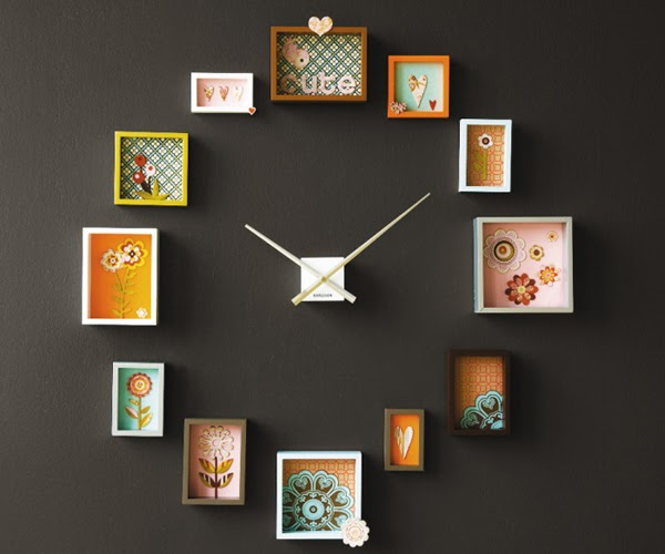 BRIGHT HOME: {weekend project} wall clock *** {uradi sam} zidni sat