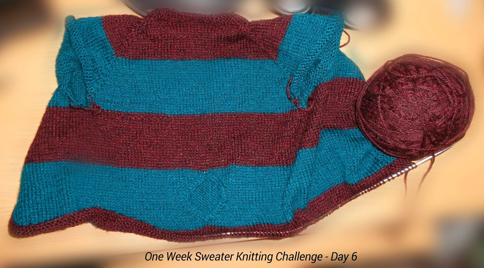 Cables And Posts One Week Sweater Knitting Challenge Penultimate Day