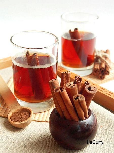 warm cinnamon tea