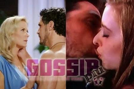 Oliver bacia Aly Brooke con Bill