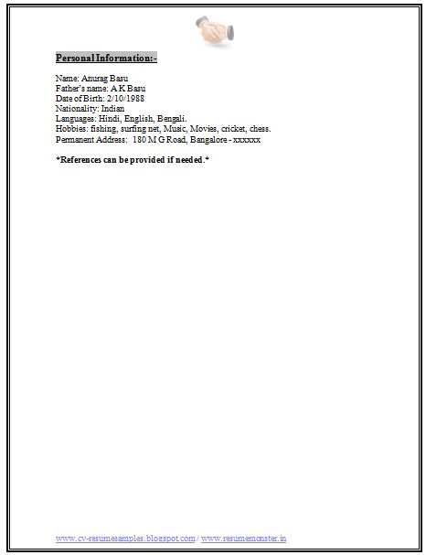 download resume format here