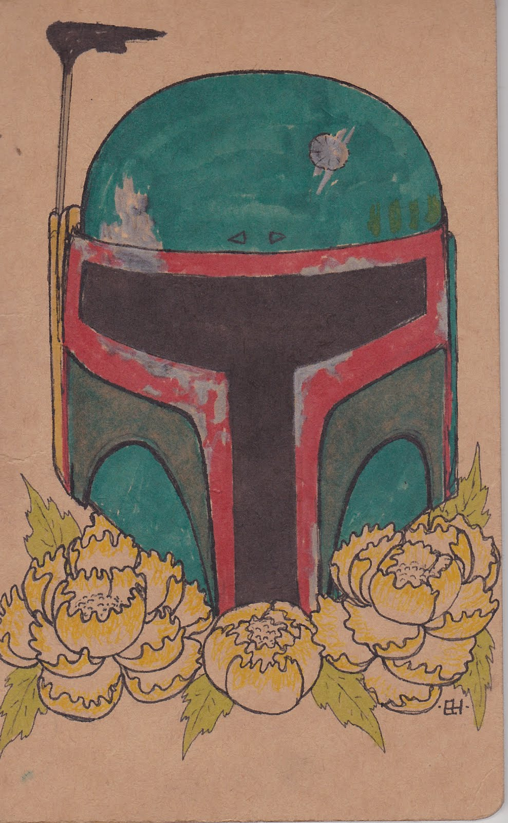 the art of erika hagarty  boba fett moleskine