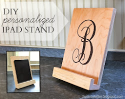 diy personalized ipad stand