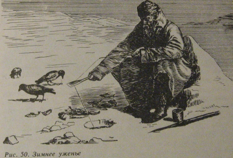 Зимняя рыбалка в произведениях Л.П. Сабанеева