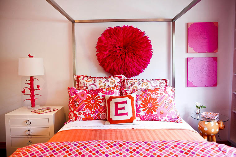 Room Of The Day Pink Orange Girl 39 S Bedroom Table Tonic
