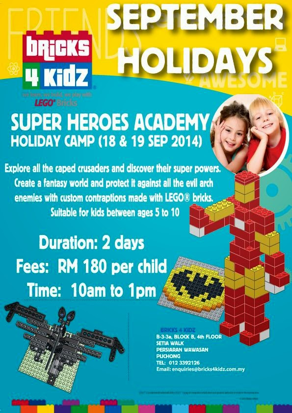 Sept 2014 School Holiday Programs in KL and Selangor