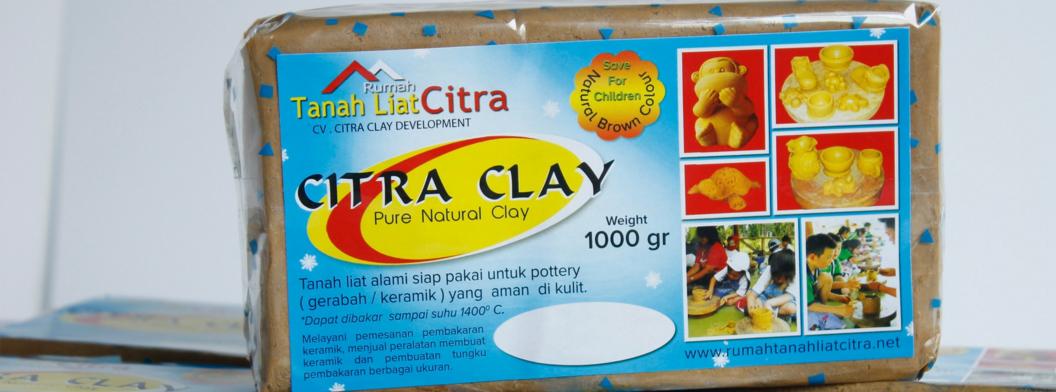 Citra Clay, Tanah Liat Alami Berkualitas 1kg.