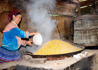 Corn wine in Bac Ha