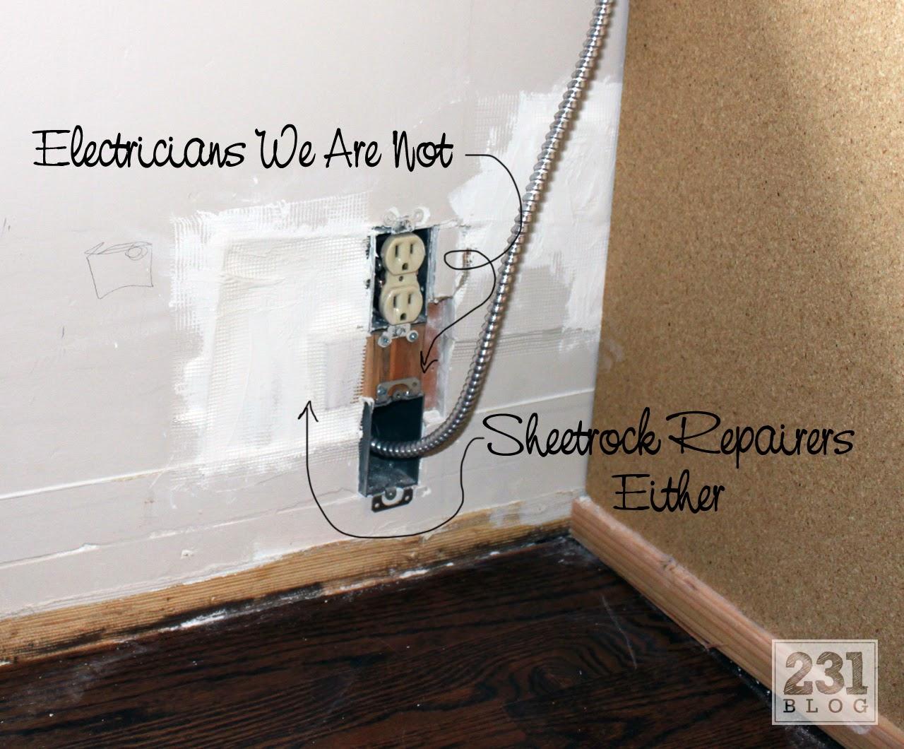 running electrical conduit into built in bookshelves