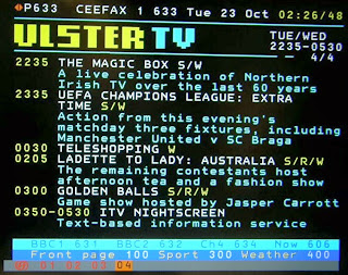 CEEFAX PAGES Picture by Souriau