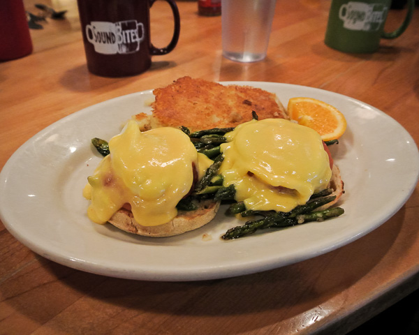 Eggs Benedict at Sound Bites in Boston Massachusetts