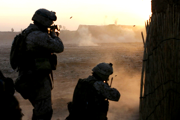 Firefight in Afghanistan