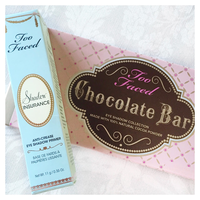too faced chocolate bar palette and shadow insurance primer