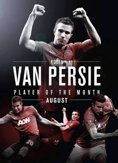 Robin Van Persie Player of the Month for August 2013
