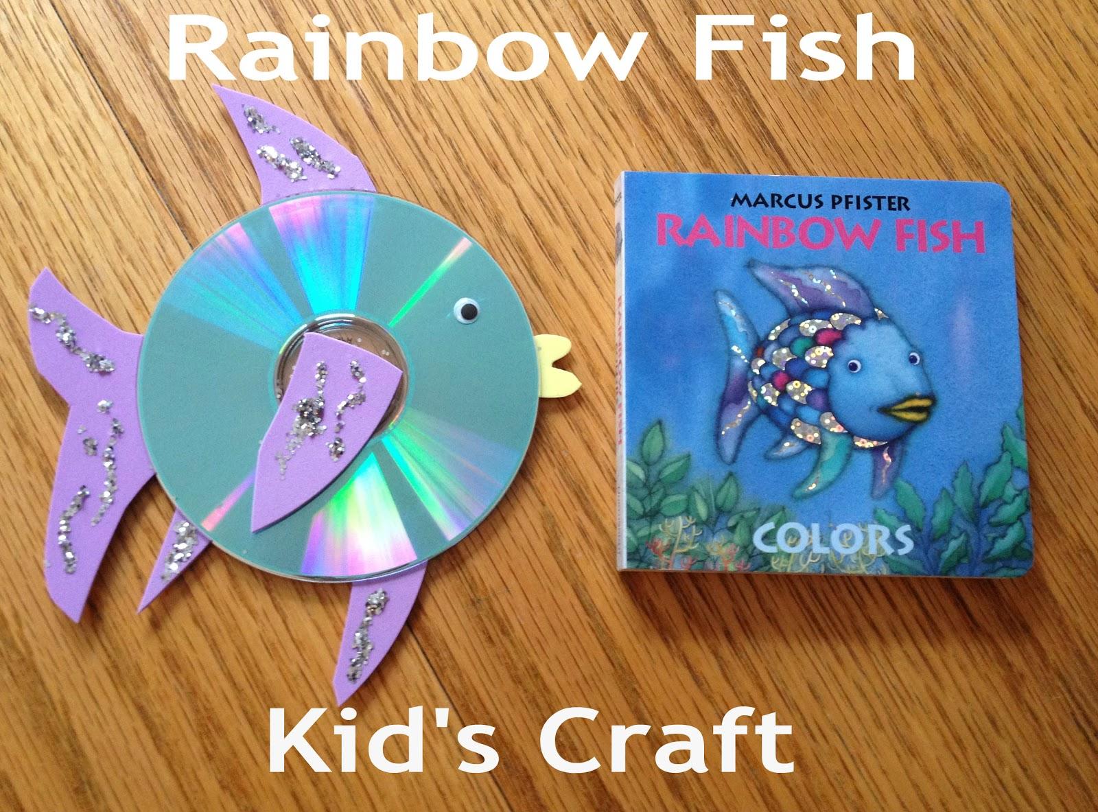 Rainbow fish crafts for kids for Rainbow fish craft