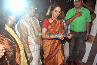 Actress Hema Malini at Shree Kali durga puja event
