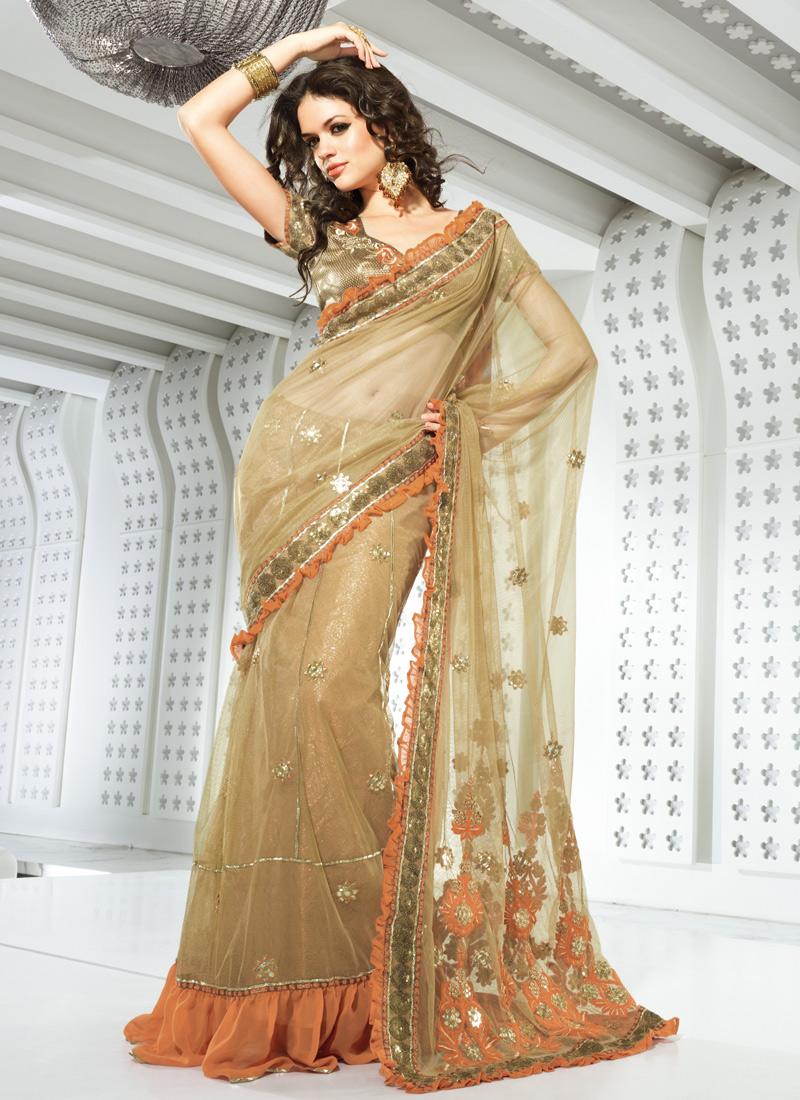 Saree designs saree designs for summer net georgette for Net designs
