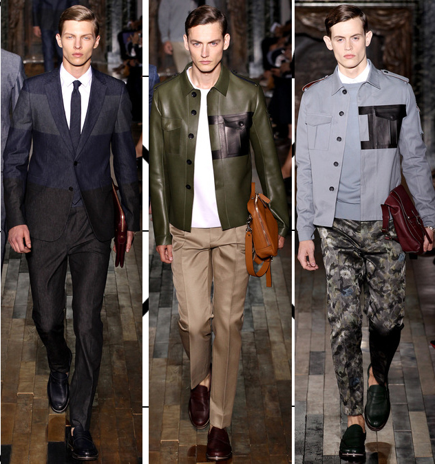 valentino mens spring 2014 military influence