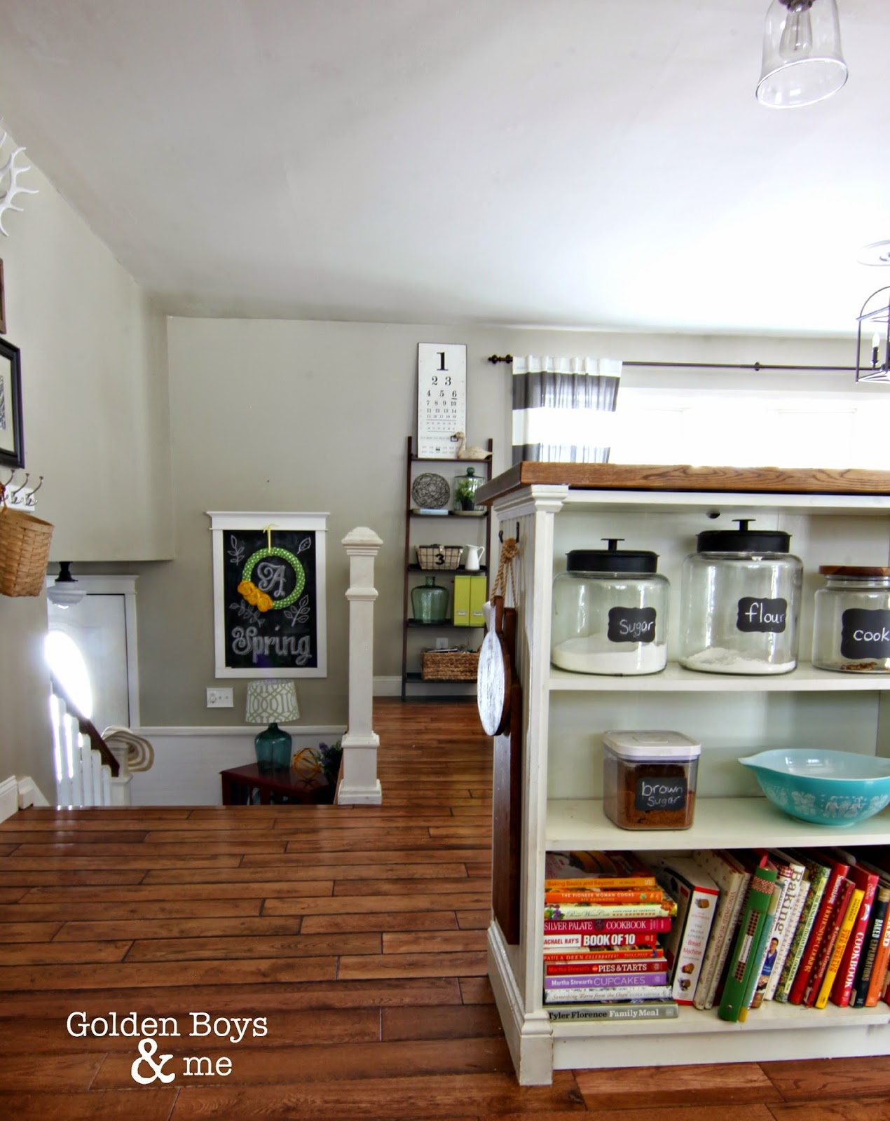 Split level home with open concept floor plan-www.goldenboysandme.com