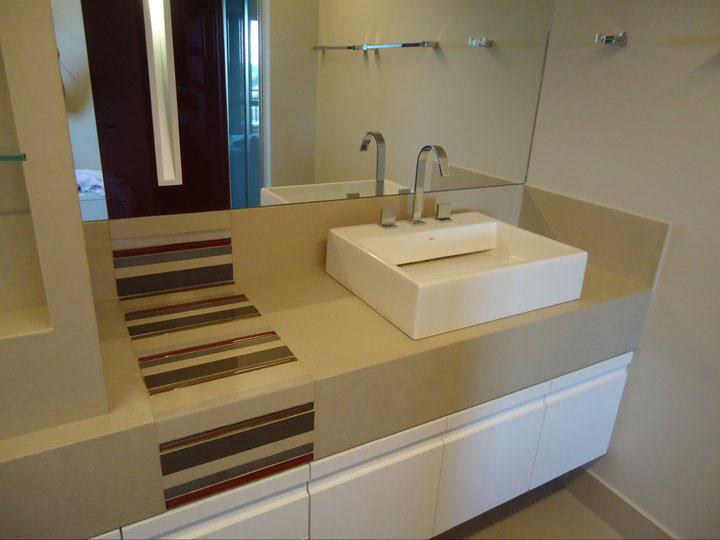 Arquitetura & Revestimentos REVESTINDO O BANHEIRO COM PORCELANATO -> Pia De Banheiro Sketchup